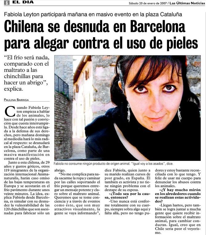 Fabiola en LUN, 2007-02-20